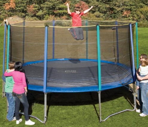 Safe Fun for all the Family - 15ft Pure Fun Trampoline