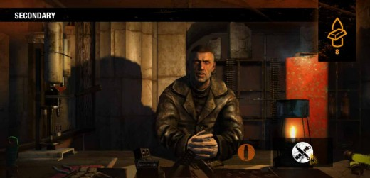 Metro Last Light find this merchant in the market at the Theater to upgrade weapons.