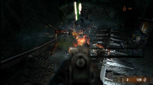 Metro Last Light defeat the monsters in the dark and get through the darkness to reach the surface.