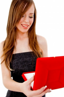 Woman Holding Jewelry Box by imagerymajestic