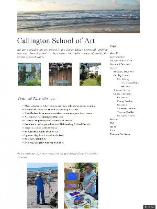 Painting Holidays in Cornwall: Callington Art School.
