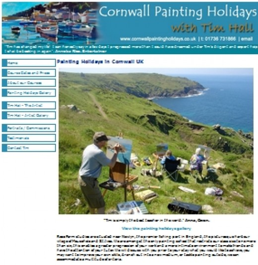 Painting Holidays in Cornwall.  Tim Uff.  Specialist painting vacations in Cornwall