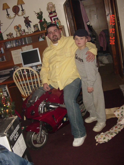 My brother,Joe with my son,Alex