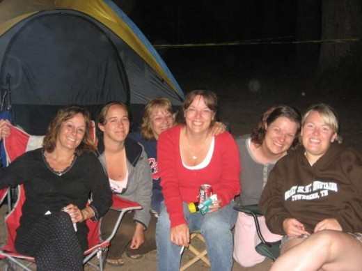 One of our reunion camp trips.  Aunt Tammy,Rachel(cousin), mom, Aunt Marcie,me and my sister, Nikki