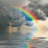 See through the clouds and rainbows will form.