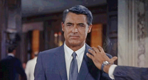 Cary Grant in Alfred Hitchcock's 1959 film North by Northwest