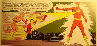 Kid Flash in action with the Flash.