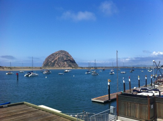 A view of Morro Rock from the Embarcadero Inn.