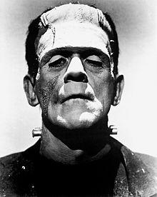 Boris Karloff as the monster.