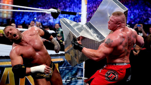 Another predictable outcome didn't stop Triple H and Brock Lesnar from putting on an entertaining brawl.
