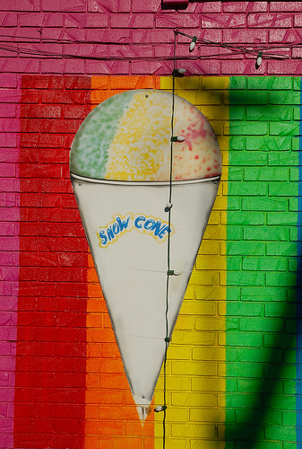 Snow cone graffiti from Steve Snodgrass on Flickr
