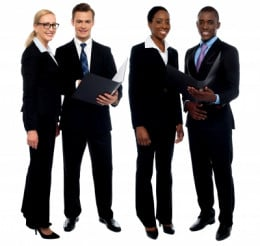 Teens learn to conduct business.  Learn Business Etiquette.