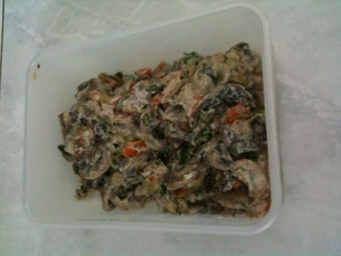 Mushrooms in White Sauce