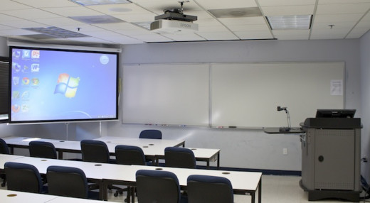 This picture illustrates an ideal Smart Classroom