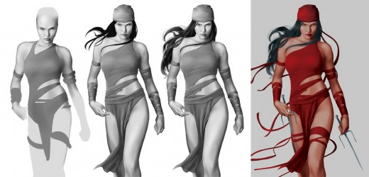 The history of Elektra's costume.