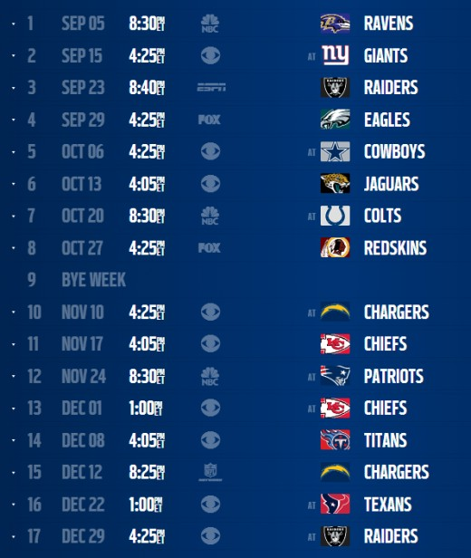 Broncos 2013 schedule