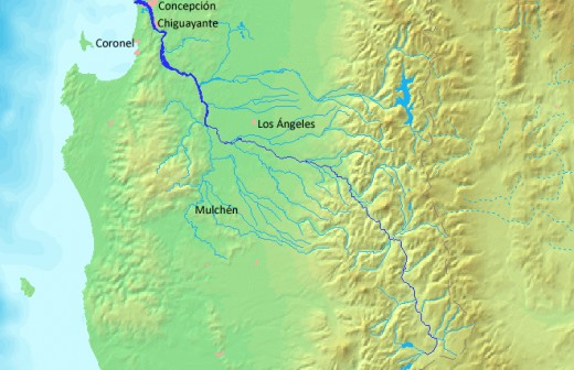 The mighty Biobio River, where the Mapuche stopped the Spaniards for 300 years.