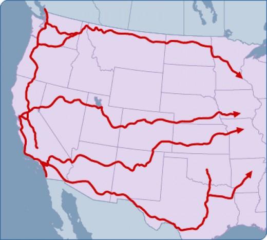 Train  routes west.