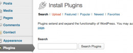 Search for new Plugins using the search field