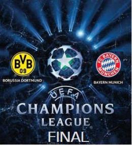 Bayern Munich vs Borussia Dortmund in the 2013 Champions league Final