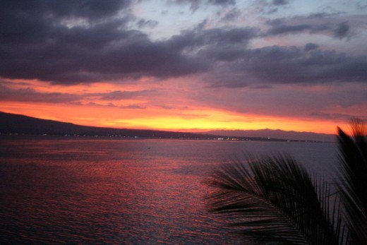 Santander, Liloan,  Cebu, Philippines, Hotel Eden Resort - The Sunset Viewing From The Terrace