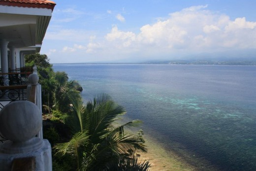 Santander, Liloan,  Cebu, Philippines, Hotel Eden Resort - seafront above the cliff
