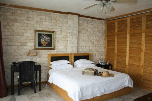 Santander, Liloan,  Cebu, Philippines, Hotel Eden Resort - seafront above the cliff - double bedroom