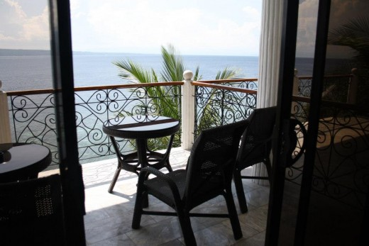 Santander, Liloan,  Cebu, Philippines, Hotel Eden Resort - seafront above the cliff - the terrace