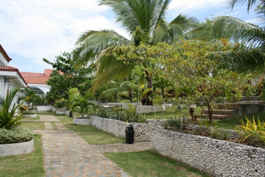 Santander, Liloan,  Cebu, Philippines, Hotel Eden Resort - seafront above the cliff - the garden