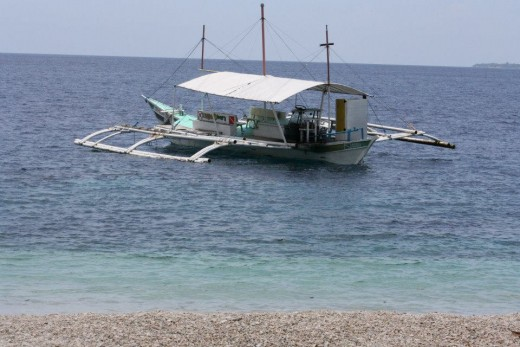 White Peeble Sand Beach - Santander, Liloan, Cebu, Philippines - Diving place for most Koreans & Japanese