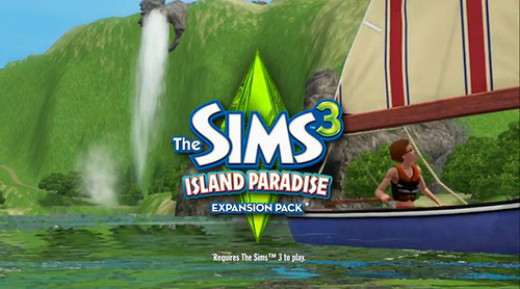 This is the cover of the Sims 3 Island Paradise EP.