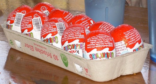 Carton of Kinder eggs by jonl