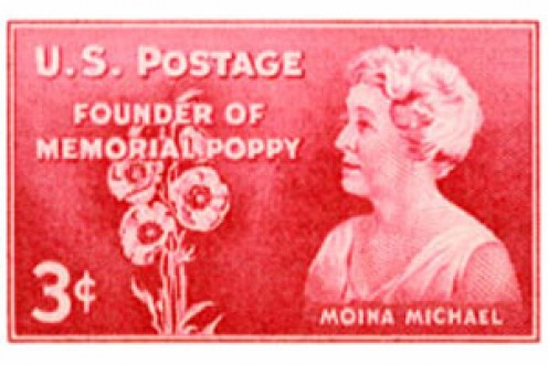 Moina Michael Commemorative Postage Stamp