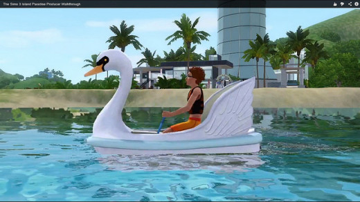 Swan paddle boats are the often the most fashionable choice