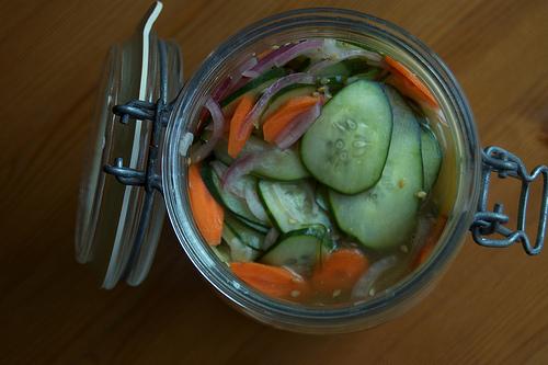 Sesame pickles from sleepyneko on Flickr