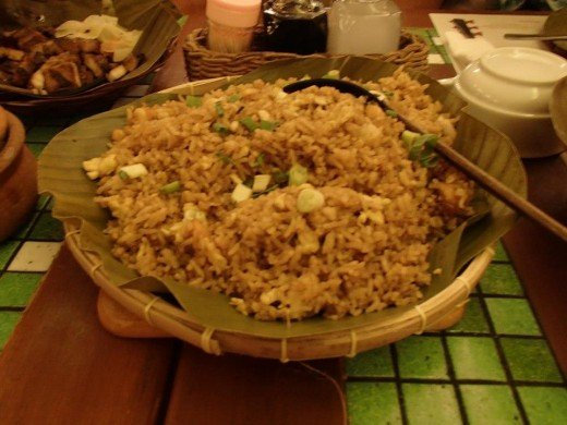 Filipino Native Food - Fried Rice - Light House Restaurant, Cebu City, Philippines