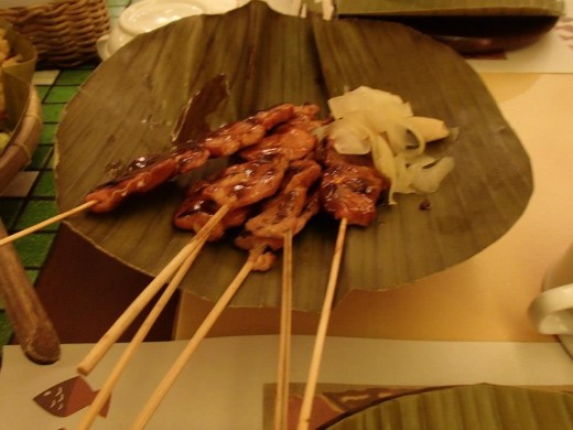 Filipino Native Food - Pork Baebecue - Light House Restaurant, Cebu City, Philippines
