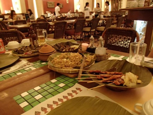Filipino Native Food - Light House Restaurant, Cebu City, Philippines