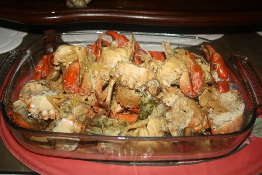 Filipino Food - Crab - Fried with Sprite Drinks