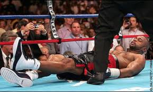 Roy Jones got starched by Glen Johnson after being dominated the entire bout first.
