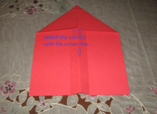 Fold down the corners