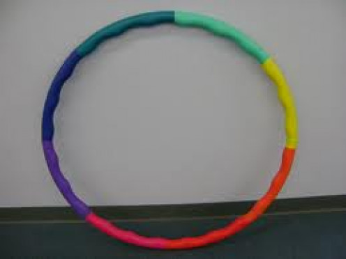 The Hoola- Hoop is a great exercise and it is fun. The idea is to shake your hips and keep the hoop swinging around your body.