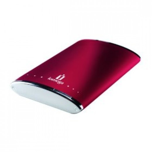 Iomega eGo USB 2.0 320 GB Rugged Portable Hard Drive (Ruby Red)