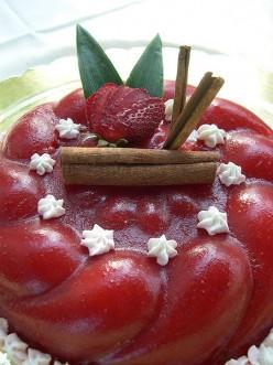 Strawberry gelatine
