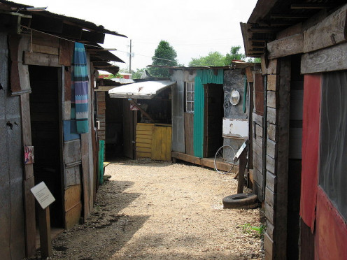 Habitat for Humanity International's Global Village and Discovery Center in Americus, GA recreates a slum for educational purposes.
