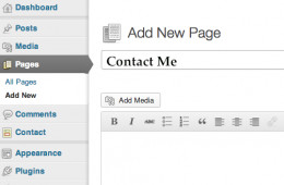 Add a new page for your Contact Form.