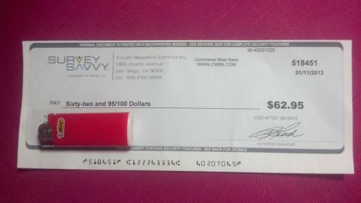 My last check