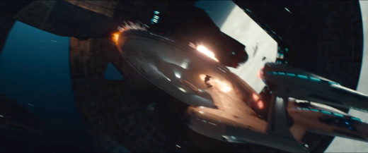 The action sequences were very well done in the sequel, especially the Vengeance's attack on the Enterprise.