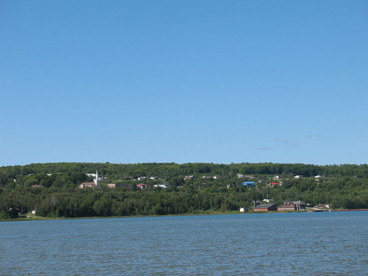 View of Wikwemikong