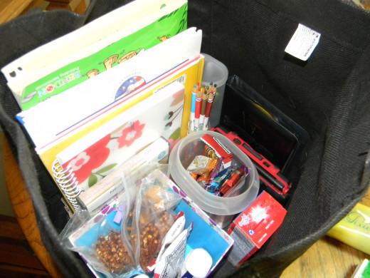 Nicely organized bag.